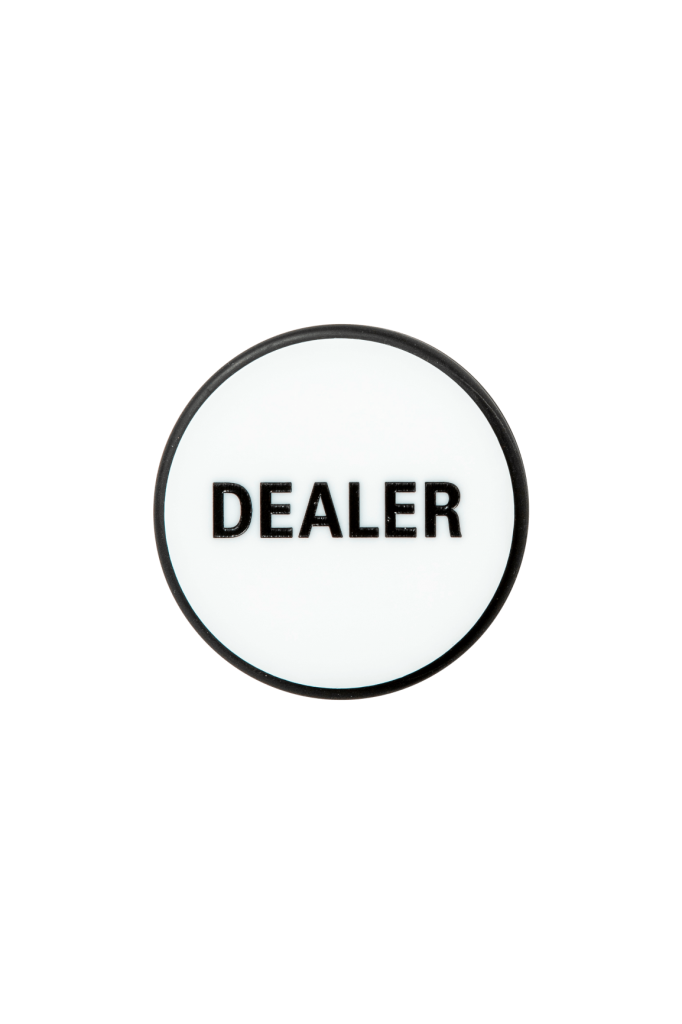 1001 Dealerbutton white